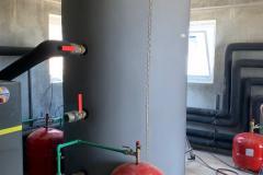 Conexión depósito inercia _ Puritermia ISBRAN en Llardecans